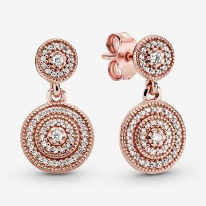 🔥Pandora🔥 Elegant Sparkle Dangle Earrings